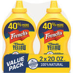 French's Classic Yellow Mustard, 20 oz, 2 count by The French's Food Co.