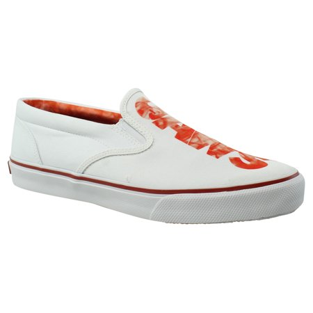 Sperry Top Sider Mens Stripers/Ologojaws White/Red Dress Loafers Size 10 (Sperrys Loafers Men)