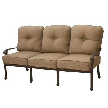 Darlee Santa Monica Patio Sofa with Cushion in Antique Bronze