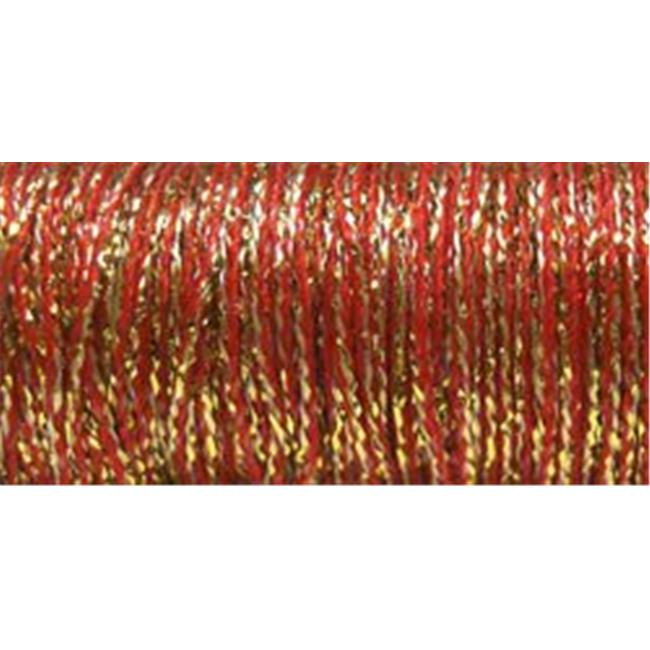 Very Fine Metallic Braid #4 11 Meters (12 Yards)-Golden Pimento