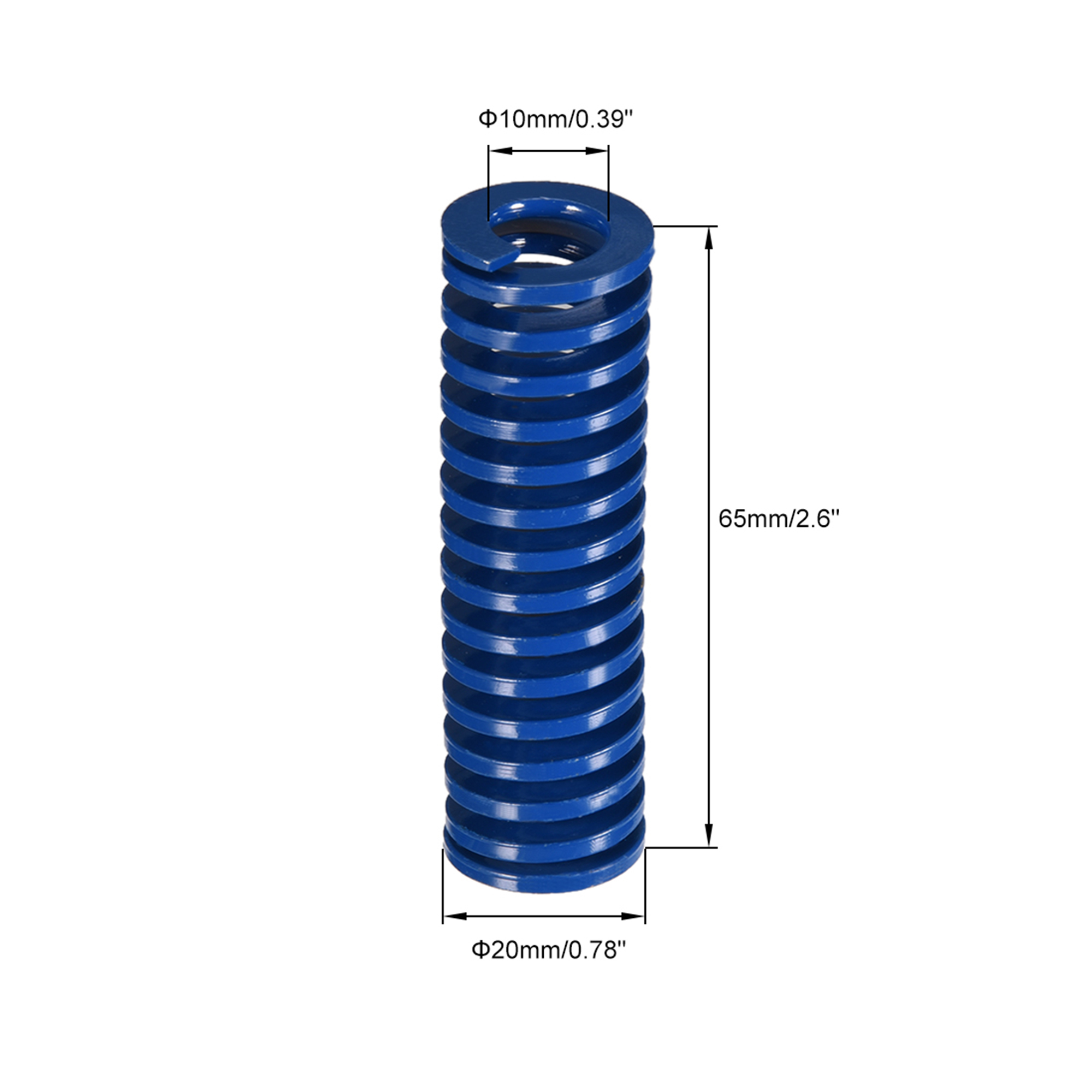 20mm OD 65mm Long Spiral Stamping Light Load Compression Mould Die Spring Blue 1Pcs - image 1 of 2