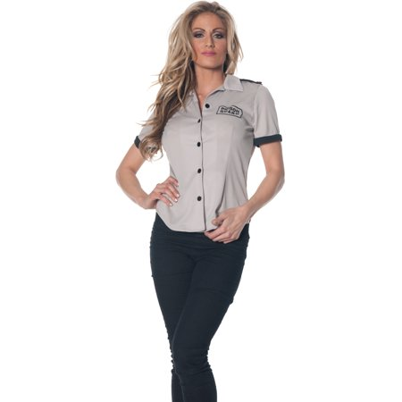 Women's Prison Guard Fitted Costume Shirt - Prison Convict Costume