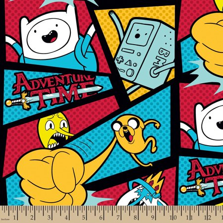 Cartoon Network Framed Adventure Time with Dots, Fleece, Multi-Colored, 59/60