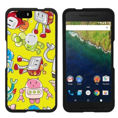 TurtleArmor ® | For Huawei Nexus 6P | Google Nexus 6P [Slim Duo] Two Piece Hard Cover Slim Snap On Case - Gizmo (Steampunk Google)