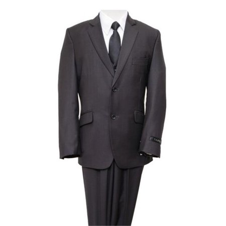 Mens Suits  Solid 2 Button Front Closure Interior Pick Stitching Boys Suits  Grey - (Lightweight Three Button Suit)