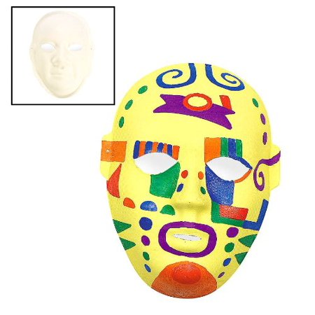Decorating Your Garage For A Halloween Party (Fun Express Decorate Your Own Paper Masks (6)