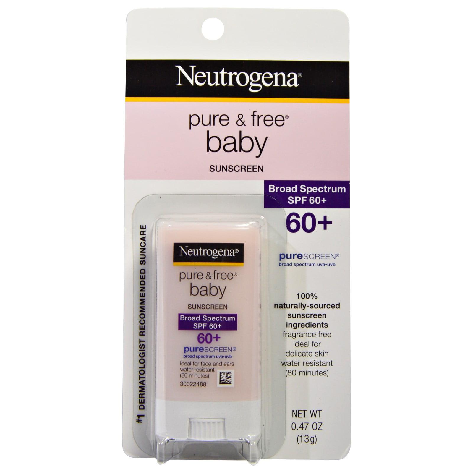 Neutrogena, Pure & Free Baby Sunscreen, SPF 60+, 0.47 oz (pack of 1)