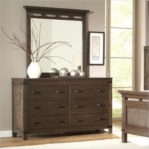 Riverside Furniture Promenade 6 Drawer Dresser in Warm Cocoa