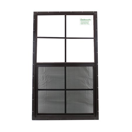 21 x 36 Shed Window SAFETY GLASS Brown Flush Barn Storage Shed Garage Playhouse
