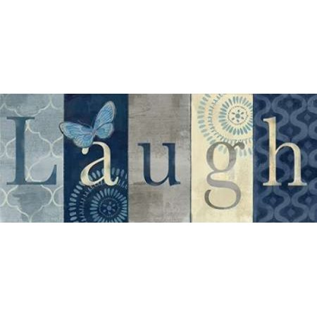 Live Love Laugh Navy III Canvas Art - Cynthia Coulter (10 x 20)