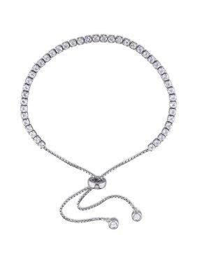 ef41c61863790 Product Image 3-3 4 Carat T.G.W. White Topaz Sterling Silver Adjustable  Tassel Bracelet