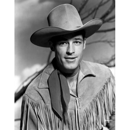 Guy Madison in Cowboy Outfit Classic Portrait Photo Print - Guy Outfits