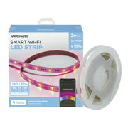 Merkury Innovations Smart LED Strip Lights, 6.5ft, Trimmable, Dimmable