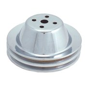 Spectre Performance 4378 Chrome Plated Double Belt Groove Water Pump Pulley for Small Block Chevrolet