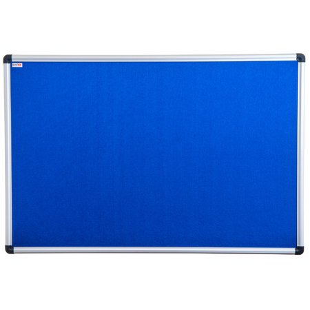 "Viztex | Fabric Bulletin Board | Aluminium Frame | Size 24"" x 36"""