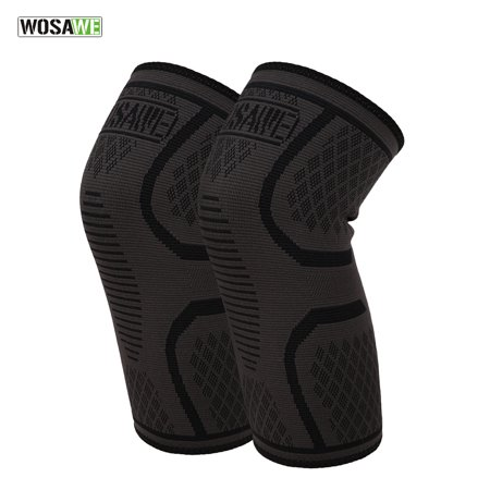 WOSAWE 1pc Elastic Compression Knee Brace Cycling Running Hiking Outdoor Sports Fitness Knee Sleeve Pad Support Guard - image 2 of 7