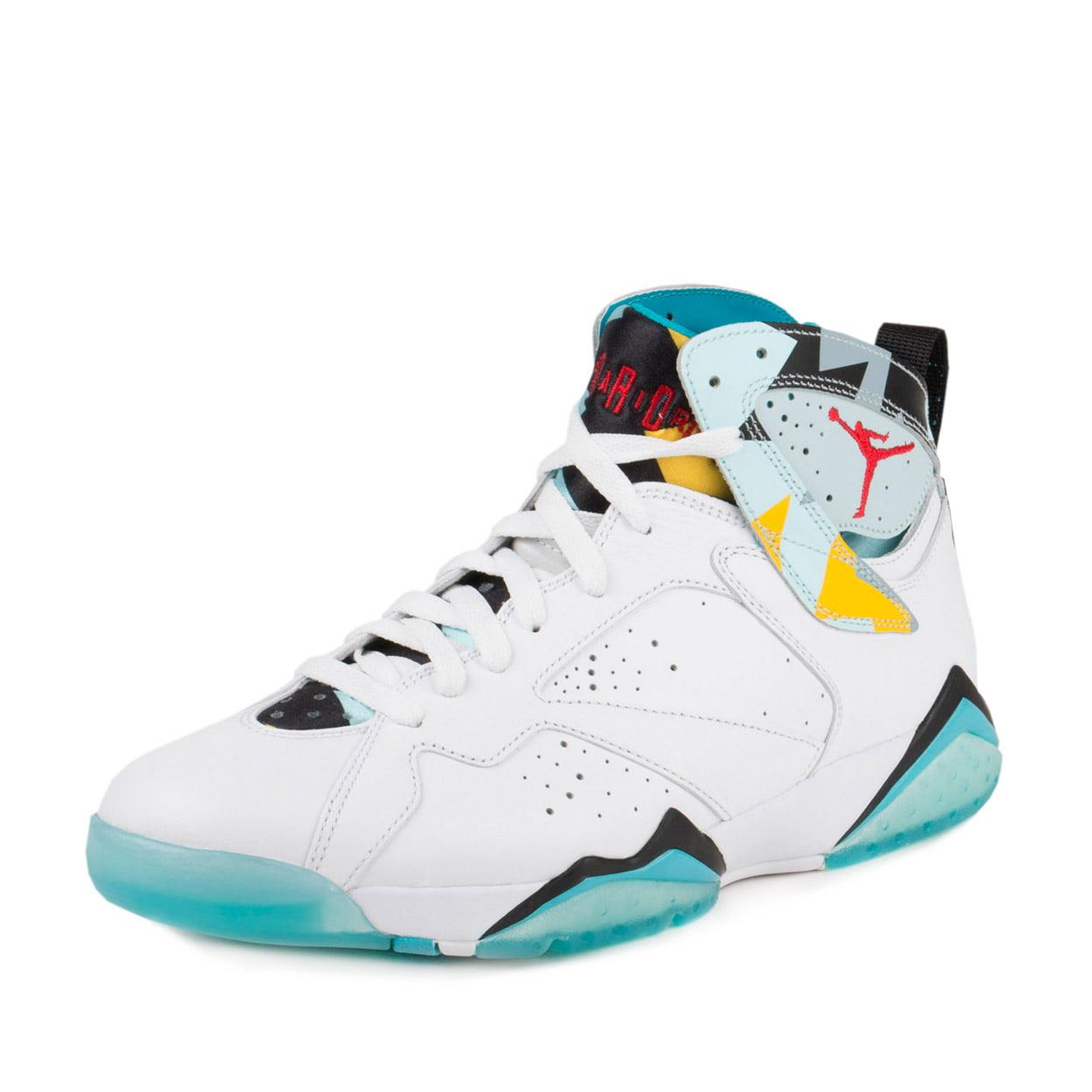 Nike Mens Air Jordan 7 Retro N7 White/Ice Blue-Dark Turqu...