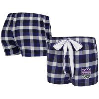 Sacramento Kings Concepts Sport Women's Piedmont Flannel Sleep Shorts - Purple/Black