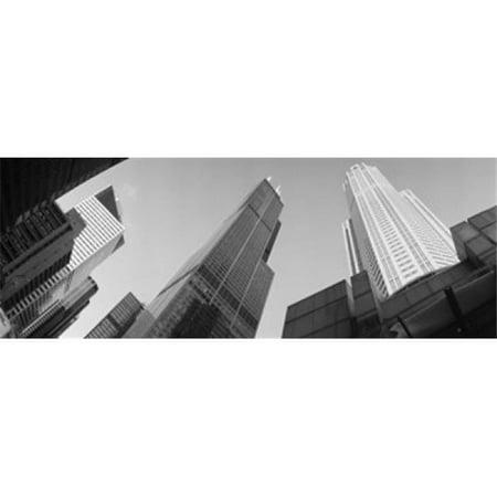 Images panoramiques PPI89682L Faible angle de vue des b-timents Sears Tower de Chicago Illinois USA copie d'affiche par images panoramiques - 36 x 12 - image 1 de 1