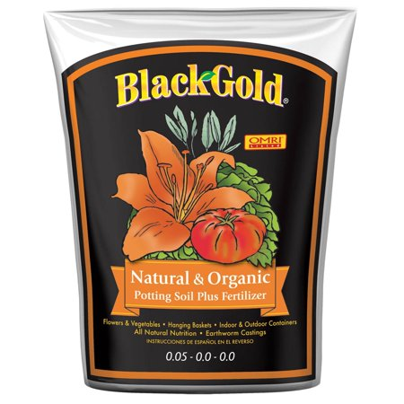 SunGro Black Gold 2 Cu Ft Natural & Organic Potting Soil + Fertilizer | covid 19 (4 Way Soil coronavirus)