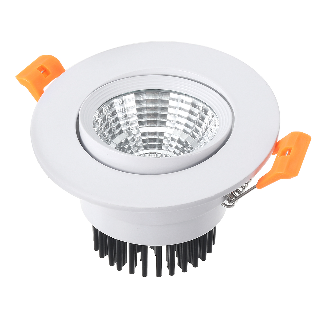 Unique Bargains 4 Pcs 68mm Dia. 3W COB Downlight Housing Recessed Ceiling Light Shell - image 2 de 5