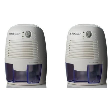 Eva-dry Edv-1100 Electric Petite Dehumidifier, White (Set of 2)