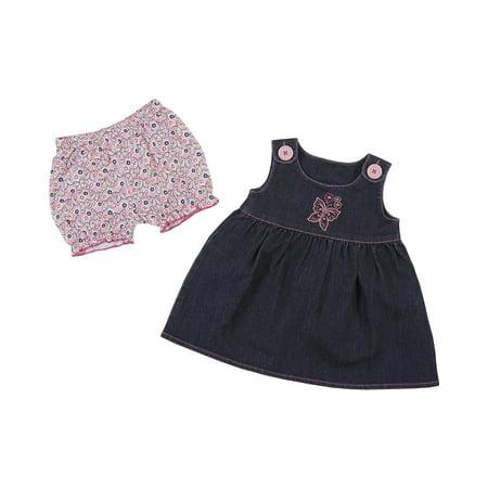 9cd62c1e2bcd Wrangler - Wrangler Infant-Girls  Indigo Sleeveless Denim Jumper ...
