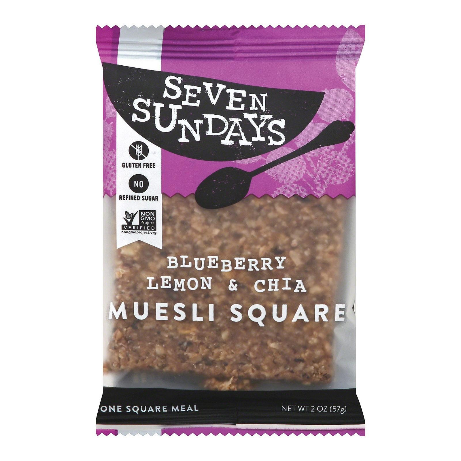 Seven Sundays Muesli Square - Blueberry Lemon And Chia - pack of 10 - 2 Oz.