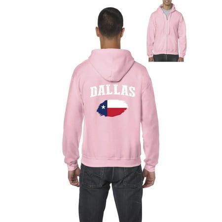 Dallas Texas Men's Full-Zip Hooded Sweatshirt Dallas Stars Mens Sweatshirts