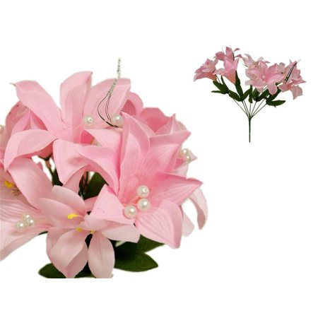 Classic White Lily - BalsaCircle 70 Tiger Lily Silk Wedding Flowers - DIY Home Wedding Party Artificial Bouquets Arrangements Centerpieces