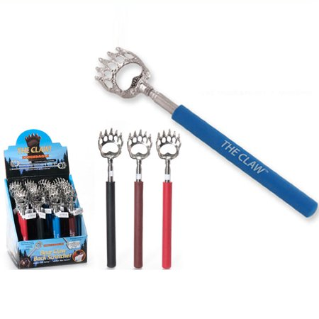 Bear Claw Telescopic Back Scratcher Long Hand Instant Itch Relief Massager Soft (Plastic Back Scratcher)