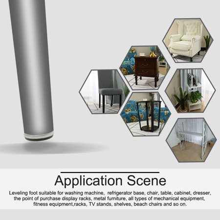 M8 x 12 x 37mm Leveling Feet Adjustable Leveler for House Table Sofa Leg 16pcs - image 3 of 7