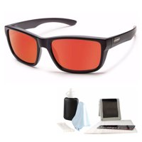 382a7f3b54a Product Image Suncloud Mayor Polarized Sunglasses (Black Frame Red Lens)  and Cleaning Kit