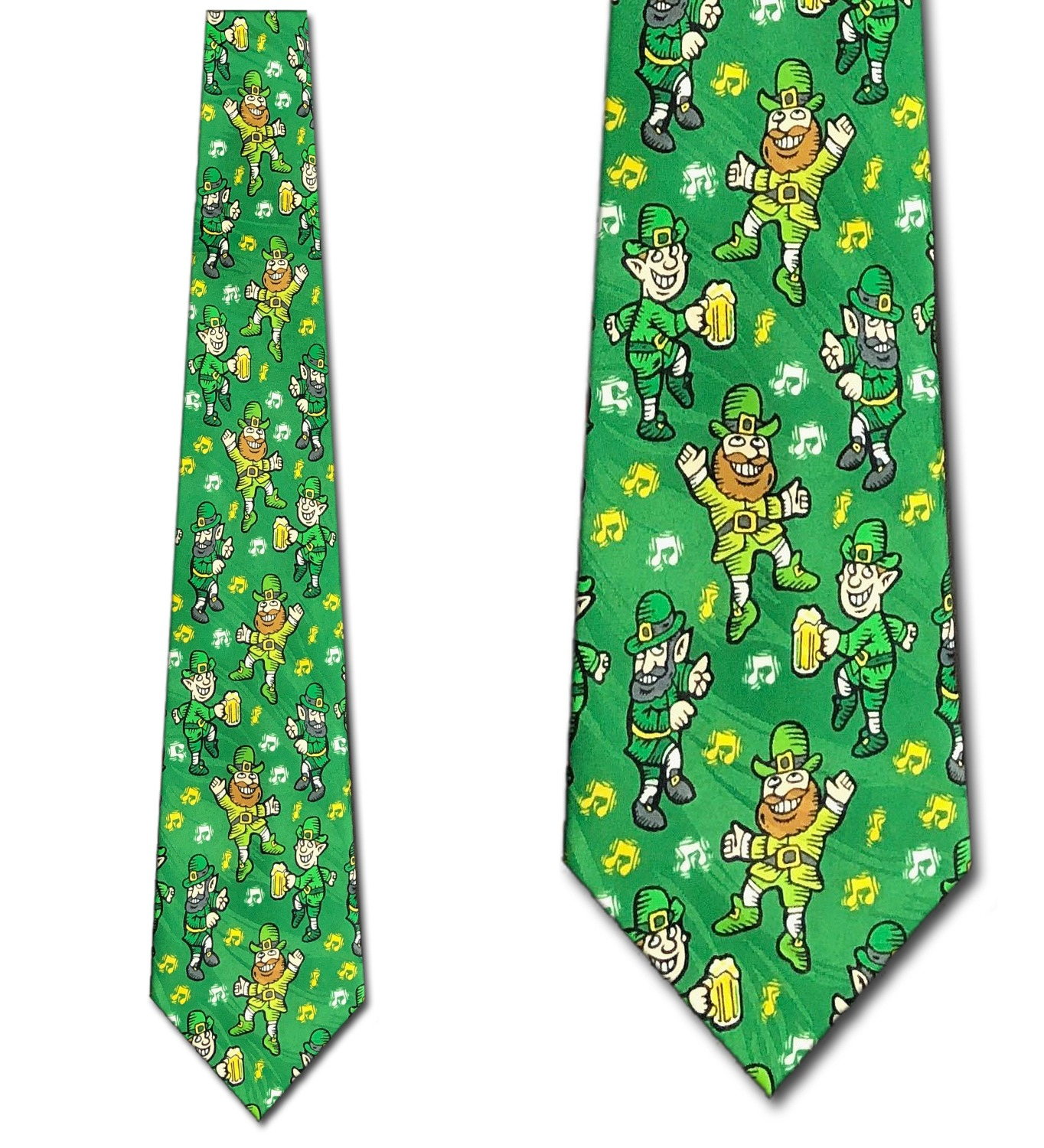 Leprechaun beer and music Necktie Mens Tie by Tieg