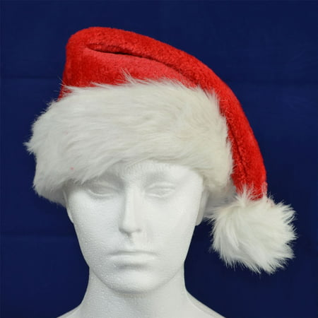 Deluxe Father Christmas Santa Hat Xmas Fancy Dress Accessories Stocking Fillers - Crismas Hat