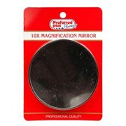 10X Magnification Round Mirror By Kpp, Professional Quality, 2 3/4 Inches , 2 Pack