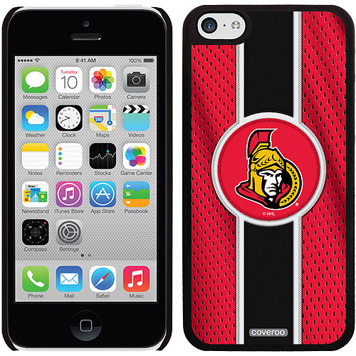 Ottawa Senators Jersey Stripe Design on iPhone 5c Thinshield Snap-On Case by Coveroo