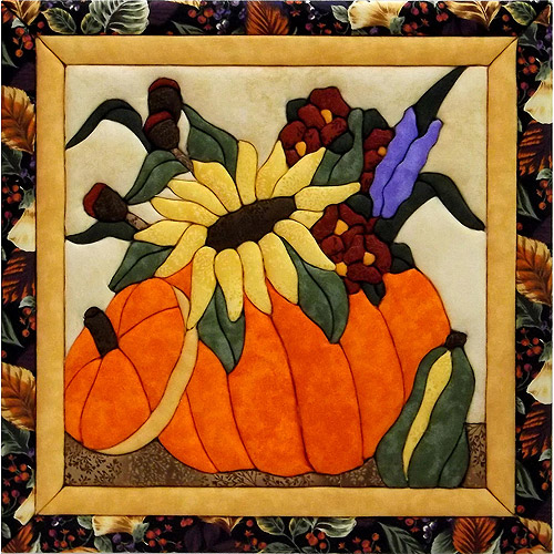 Flowers In A Pumpkin Quilt Magic Kit