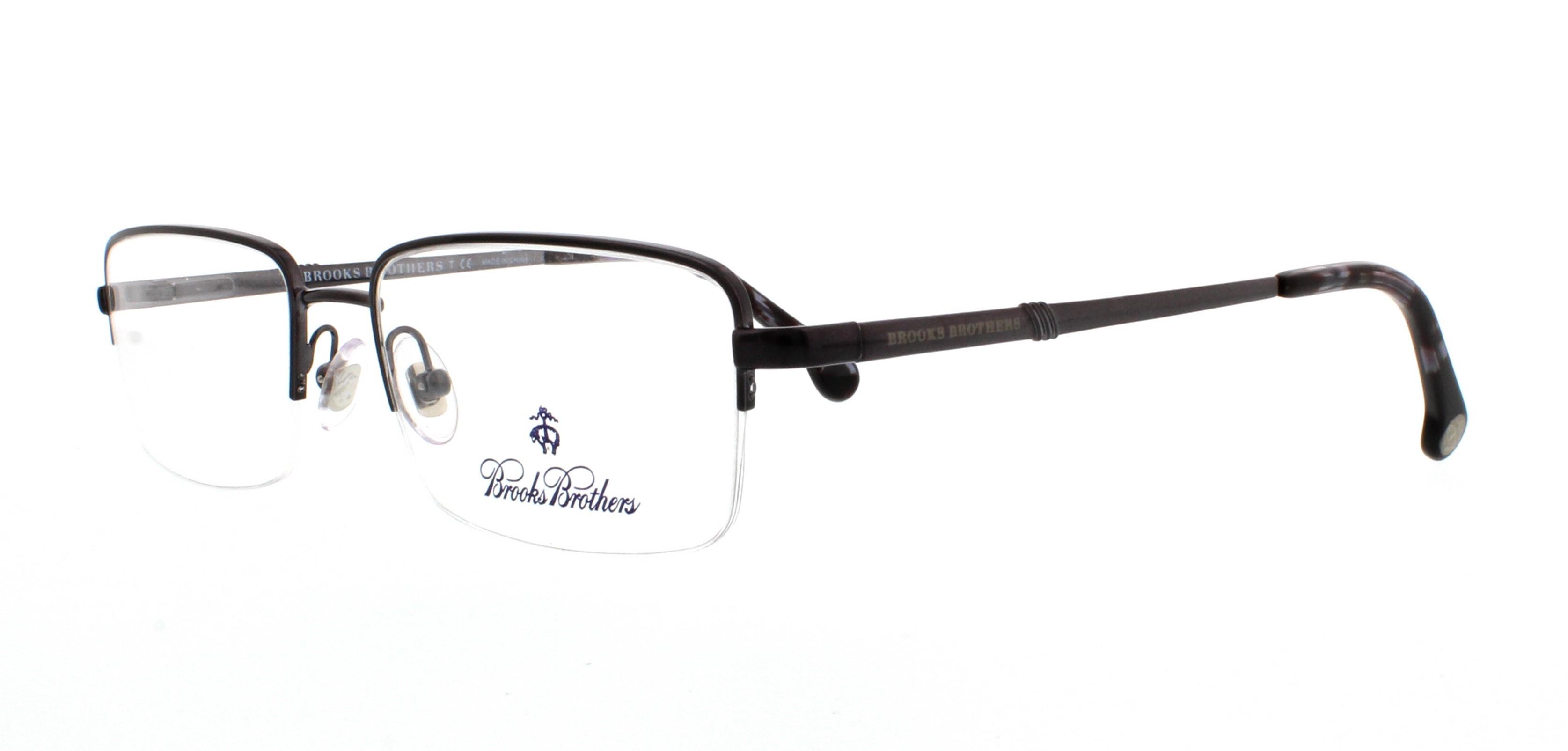 dd4ae48794 BROOKS BROTHERS Eyeglasses BB1035 1630 Brushed Gunmetal 53MM - Walmart.com
