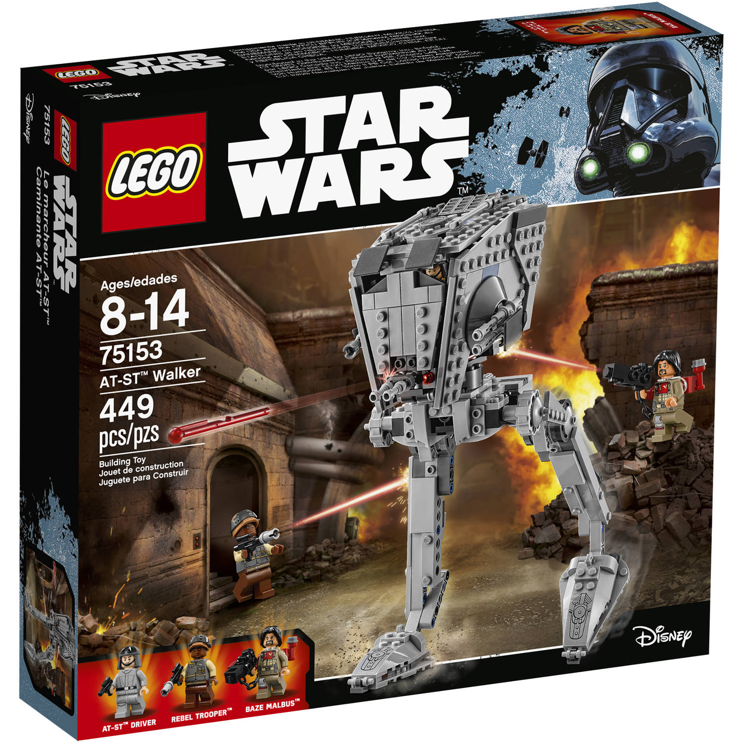 lego star wars at-st walker 75153 - walmart