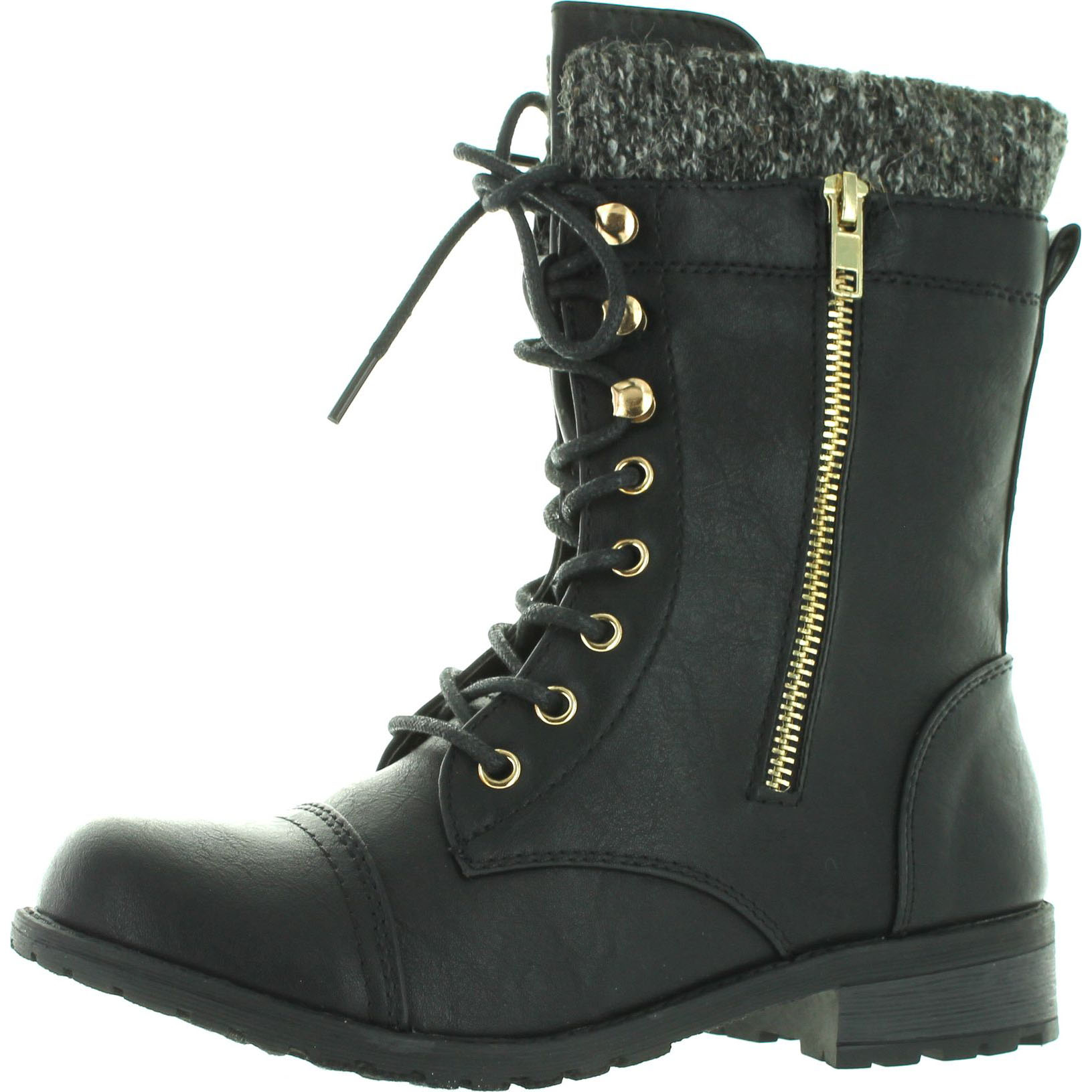 Forever Link Women's Mango-31 Quilted Zipper Accent Riding Boots