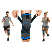Single Knee Compression Sleeve (SM, MED, LRG) - Instant Knee Support Brace Wrap for Running, Sports, Jogging, Basketball - Meniscus Tear, Joint Pain Relief, Injury Recovery for Men & Women (S, M, LG)