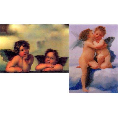 Classic Angels Cupids:2  Lenticular 3D Postcards - Raffael