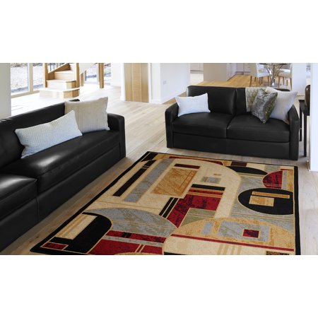 Home Dynamix Royalty Collection 8101-450 Black Area Rug