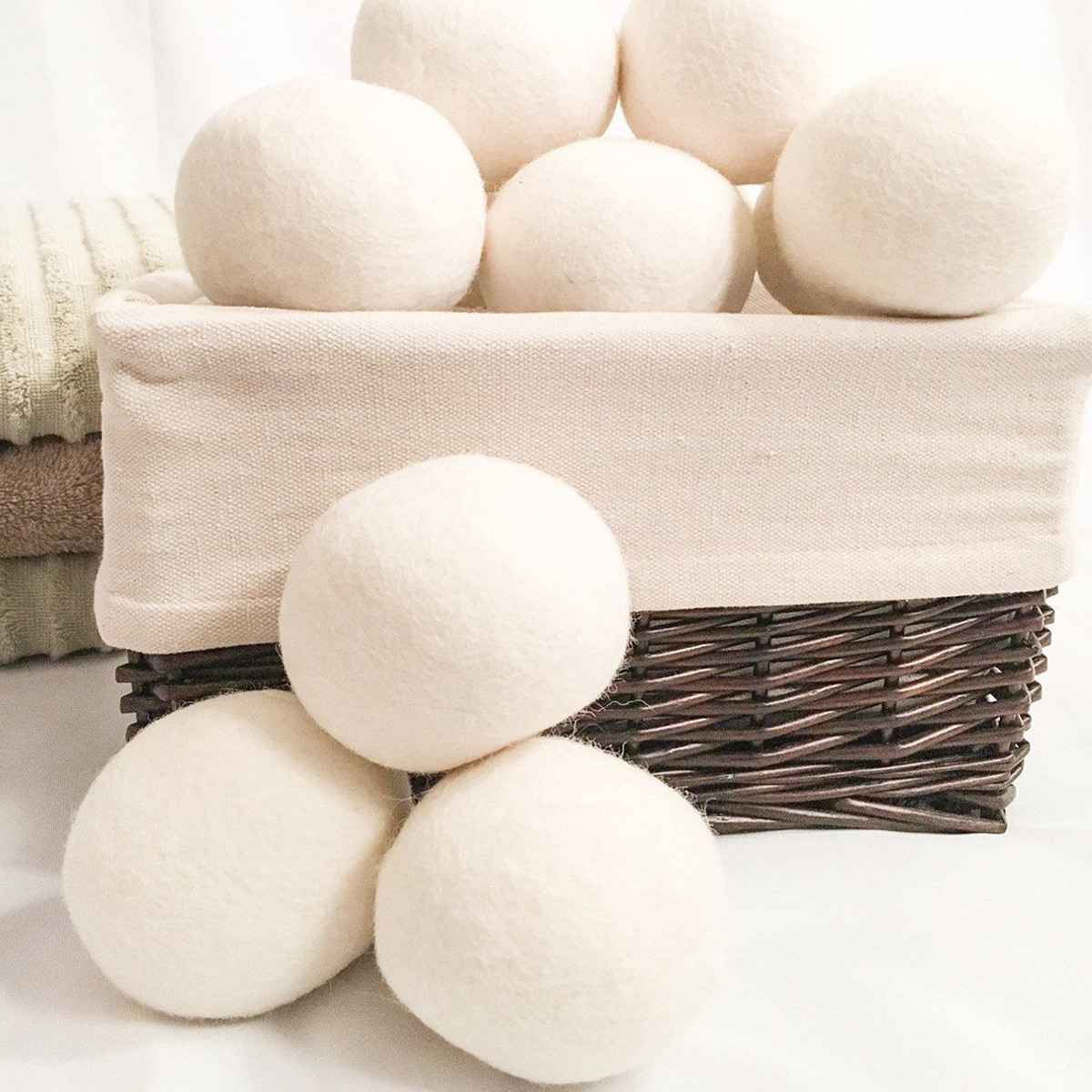 8pcs XL Wool Dryer Balls 100% Natural Fabric Softener Ball for Clothes Dry