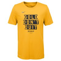 Indiana Pacers Nike Youth 2019 NBA Playoffs Bound Mantra Performance T-Shirt - Gold