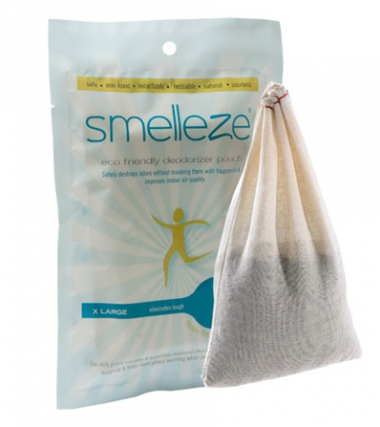 SMELLEZE Reusable RV & Camper Smell Removal Deodorizer Pouch:  Destroys Odor Without Cover-Ups