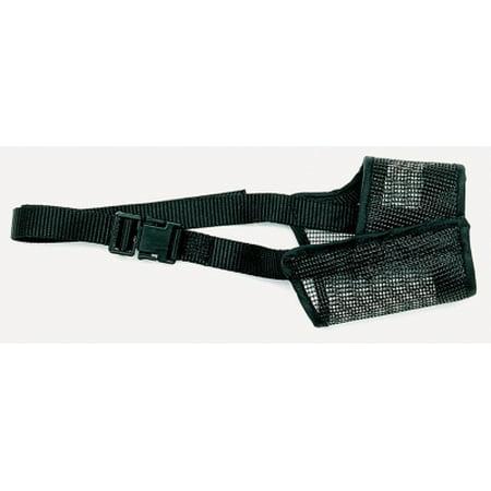 Coastal Pet Products Best Fit 01300 BLK08 Black Nylon Strap Adjustable Mesh Dog Muzzle, Size 8 Best Fit Dog Muzzle