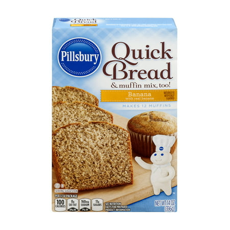 (3 Pack) Pillsbury Banana Quick Bread & Muffin Mix, 14 oz