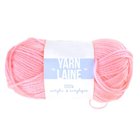 Solid Colored Acrylic Yarn Bundle, 115-Yard, Baby Pink